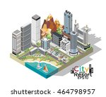 a vector illustration of a city ... | Shutterstock .eps vector #464798957