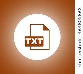 txt icon. vector concept...