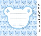 baby shower invitation with... | Shutterstock . vector #464810513