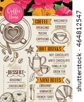 coffee restaurant brochure ... | Shutterstock .eps vector #464812547