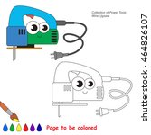 engine tool. cute wired jigsaw... | Shutterstock .eps vector #464826107