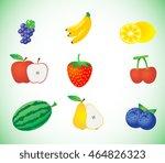 fruit set illustration | Shutterstock .eps vector #464826323