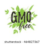 gmo free poster. | Shutterstock . vector #464827367