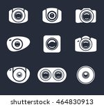 light icon camera and mobile... | Shutterstock .eps vector #464830913