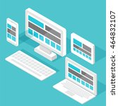 responsive pc. flat design... | Shutterstock .eps vector #464832107
