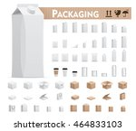 vector retail packages set | Shutterstock .eps vector #464833103