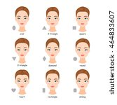 female face types. women with... | Shutterstock .eps vector #464833607