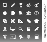 school college education icons... | Shutterstock .eps vector #464833667