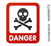 attention icons danger skull... | Shutterstock .eps vector #464848973