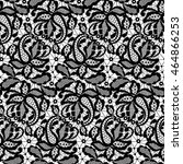 black lace pattern on a white... | Shutterstock .eps vector #464866253