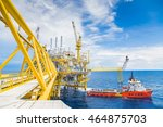 oil and gas central processing... | Shutterstock . vector #464875703