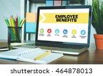 employee benefits concept on... | Shutterstock . vector #464878013