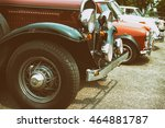 old photo of classic car  ... | Shutterstock . vector #464881787