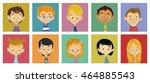 faces of children | Shutterstock . vector #464885543