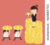 business situation.... | Shutterstock .eps vector #464885753