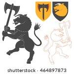 minotaur with a axe... | Shutterstock .eps vector #464897873