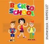 back to school vector... | Shutterstock .eps vector #464901137