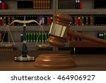 3d rendering of gavel  law... | Shutterstock . vector #464906927