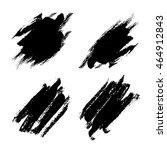 dry brush strokes vector with... | Shutterstock .eps vector #464912843