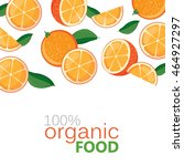 banner with juicy oranges on a... | Shutterstock .eps vector #464927297
