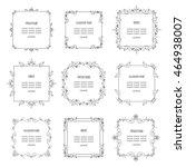 vintage square frames set... | Shutterstock .eps vector #464938007