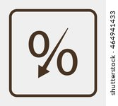 percent down icon. | Shutterstock .eps vector #464941433