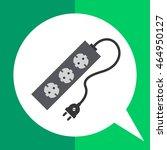 power extension cord   Shutterstock .eps vector #464950127