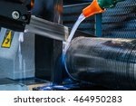 cnc lathe for metal band saw... | Shutterstock . vector #464950283