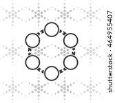 circle arrows icon. | Shutterstock .eps vector #464955407