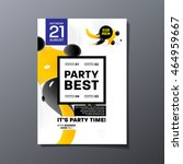 party flyer template design.... | Shutterstock .eps vector #464959667