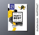 party flyer template design....   Shutterstock .eps vector #464959667
