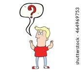 freehand drawn speech bubble... | Shutterstock . vector #464969753