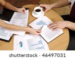 office. meeting on business.... | Shutterstock . vector #46497031