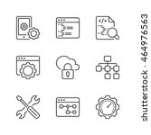 web development icons set  thin ...   Shutterstock .eps vector #464976563
