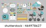 retail and wholesale kids shop.  | Shutterstock .eps vector #464978627