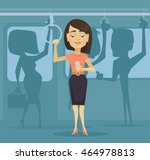 woman character using... | Shutterstock .eps vector #464978813