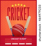 cricket event poster template... | Shutterstock .eps vector #464979233