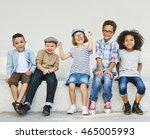 young children friends diverse... | Shutterstock . vector #465005993