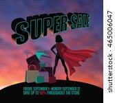 superhero woman silhouette... | Shutterstock .eps vector #465006047