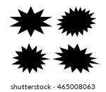black star shapes set vector... | Shutterstock .eps vector #465008063