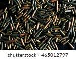 bullet casings on the black... | Shutterstock . vector #465012797
