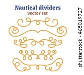 nautical ropes. dividers set.... | Shutterstock .eps vector #465019727