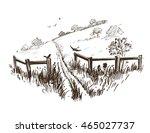 countryside sketch. vector...   Shutterstock .eps vector #465027737