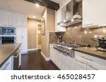 modern  bright  clean  kitchen... | Shutterstock . vector #465028457