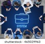business briefcase confidential ...   Shutterstock . vector #465029963