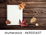 autumn background with blank...   Shutterstock . vector #465031637