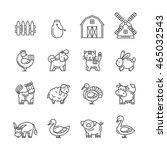 farm animals set.vector black...   Shutterstock .eps vector #465032543