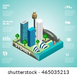 sydney  australia   main city... | Shutterstock .eps vector #465035213