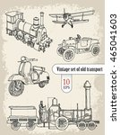 transport. vintage set | Shutterstock .eps vector #465041603