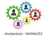 background gears and people | Shutterstock .eps vector #465046253